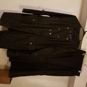 3 piece 3/4 length jacket & Long skirt